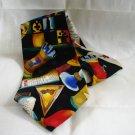 Nicole Miller 1990 silk necktie caviar vodka chess as new vintage ll2595