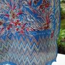 Oscar de la Renta long silk scarf floral print with pansies vintage ll2618