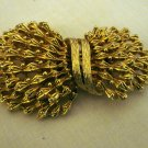 Corocraft gold tone pin brooch sheaf of wheat large vintage ll2694