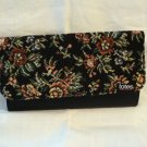 Totes petitpoint tapestry clutch wallet checkbook holder unused vintage ll2833