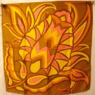 Bold tulip acetate scarf 1960s era Made in Italy very good vintage ll2881