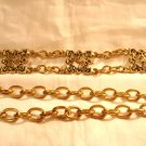Brass chain belt 6 Florentine motifs adjustable to 40 inches vintage ll2887