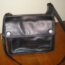 Kenneth Cole Reaction all leather shoulder handbag roomy deep charcoal excellent pre-owned ll2905