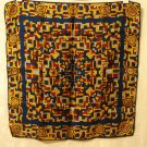 Hardy Amies for Park Lane small square scarf silk 19 inches colorful maze Exc  vintage ll2961