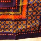 Echo Klimt-like multi color maroon tangerine taupe silk square scarf vintage ll2969