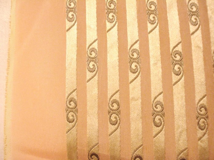 Antique long coat scarf  pink gray stripes satin and silk costume department ll2987