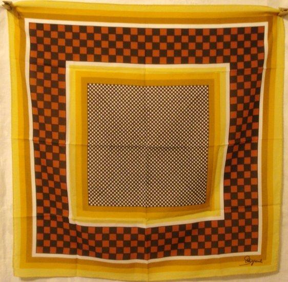 Schaparelli by Glentex polyester square scarf checks stripes ll2993