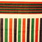Multi colored striped cotton scarf made in Italy very good vintage ll3001