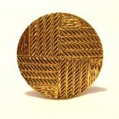 Gold tone scarf clip multi textured perfect vintage ll3116