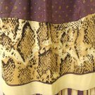 Careta viscose stole or long scarf python print stripes menswear vintage ll3119