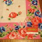 Kenzo cotton bandanna pink roses feminine kerchief preowned unused ll3120