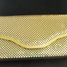 Golden aluminum mesh evening bag shoulder strap preowned perfect ll3162