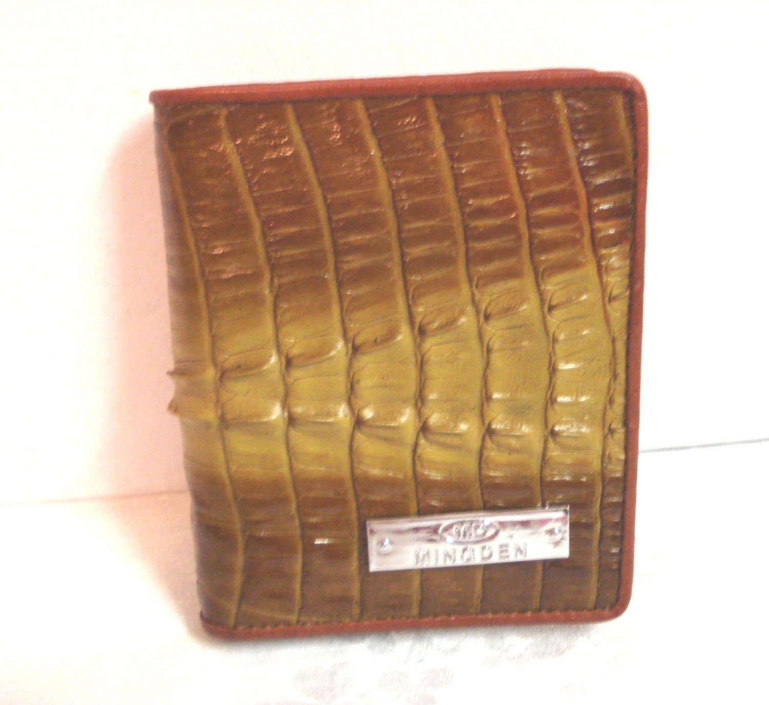 Alligator or crocodile leather wallet Mingden unused pre-owned ll3268