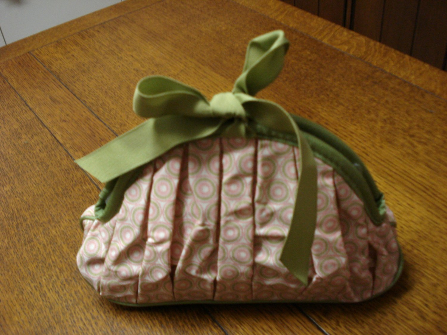 Crabtree and Evelyn fabric washbag cosmetics bag avocado pink sweet pre-owned ll3282