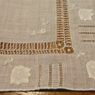 Antique ladies threadwork Madeira embroidered linen hanky for weddings or to tuck in purse ll3400