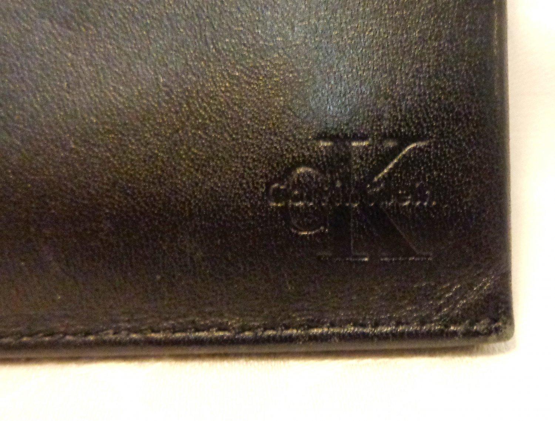 CK Calvin Klein man's wallet breast pocket bifold lambskin leather checkbook unused vintage ll3421