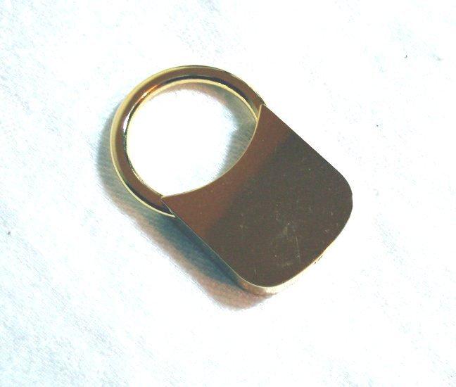 Barlow blank gold plated key ring gift boxed ll1420