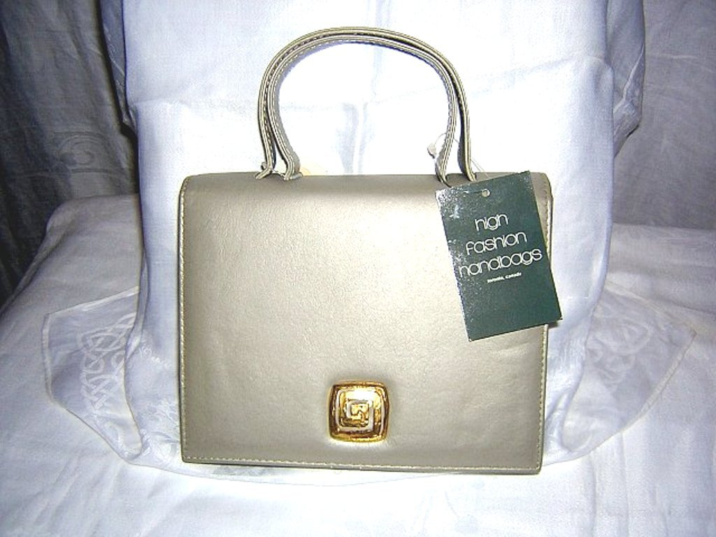 Taupe leather Kelly bag High Fashion unused with tags vintage purse detachable shoulder strap ll1506