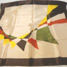 Auto rally or regatta flags acetate square scarf 27 inches vintage  ll3483