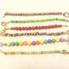 6 Handmade bead bracelets mixed colors all round beads toggle clasps  perfect ll3538