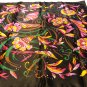 Gino Rossini square scarf dramatic mod floral acetate made Italy excellent vintage ll3557