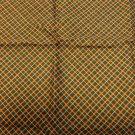 Silk scarf or pocket puff small dark diagonal check rolled hem unisex vintage ll3562