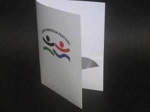 100 Custom 4 color printed presentation folders
