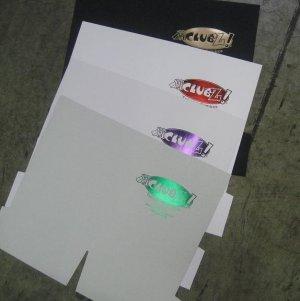 500 custom presentation folders with 1 color foil stamp