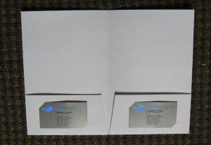 100  6 x 9 White Coated Presentation Pocket Folders