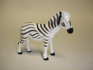 plastic toy zebra figure