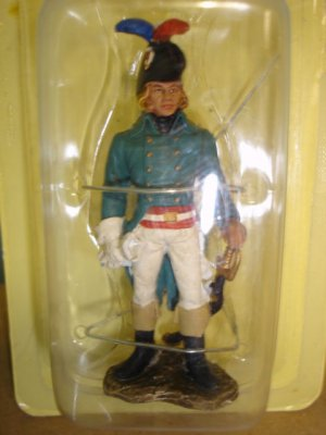 "New 3"" tall 1793 Representant aux armees full metal soldier figure"