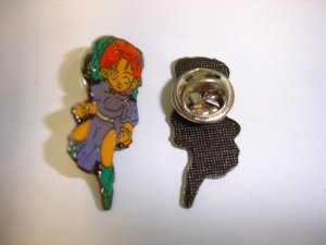 GI JOE street fighter Chun-Li pattern badge lapel hat pin birthday party gift