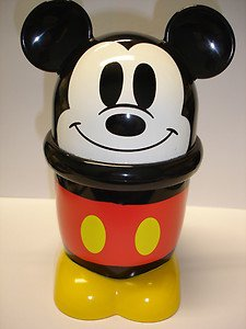 "New lovely Tomy Disney Mickey Mouse 6.25"" tall plastic coffer tea cup mug"
