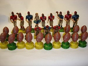 Used mixed lot of 28 PCs football guys girl footballs figurines figures