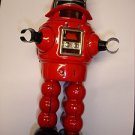"Damaged & not working Mechanical planet wind up tin 8.5"" robot"