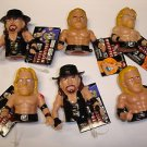 New lot of 6 WWE Wrestling Ultimate Thumb Wrestler soft plastic action figures