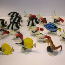 Used lot of 17 YUJIN sea horse tropic fish plastic figures figurines