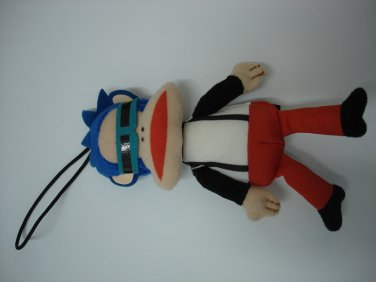 Used cute HK 7-11 Paul Frank stuffed plush doll figure charm mascot #3