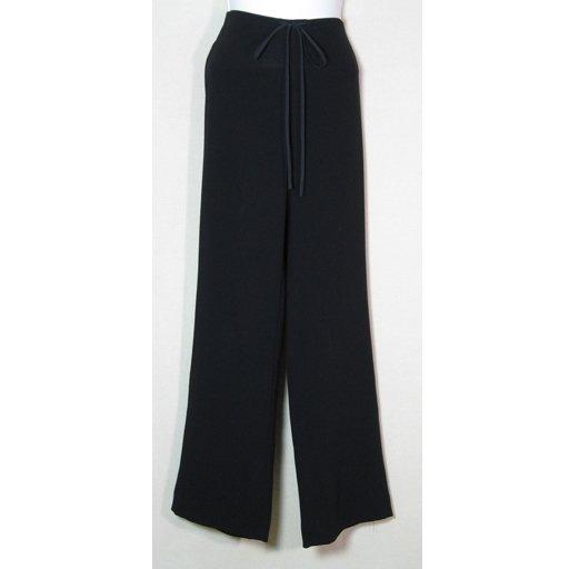 Perfect TAHARI Black Tie-Front Pants Slacks Size 2