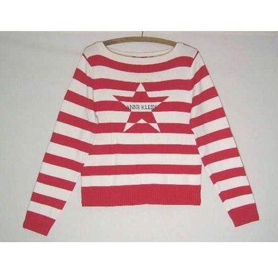 Stunning ANNE KLEIN Red & Cream Sweater- L