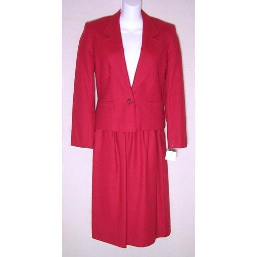 NEW Gorgeous Red PENDLETON Skirt Suit- 6P/ 8P
