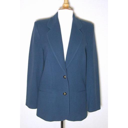RAFAELLA Cashmere Blend Blue Green Blazer- Size 10