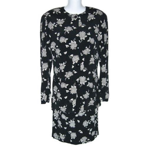 Perfect LIZ CLAIBORNE Black & Tan Skirt Suit- Size 8P/ 10P