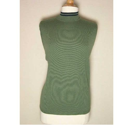 Pretty C. J. BANKS Olive Green Shell Top Size 1X