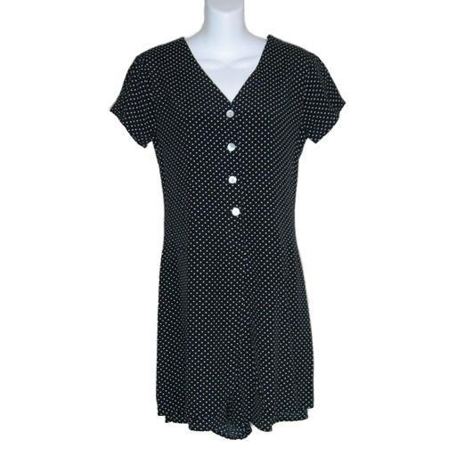 Comfy LIMITED Black/ White Polkadot Jumpsuit -XS