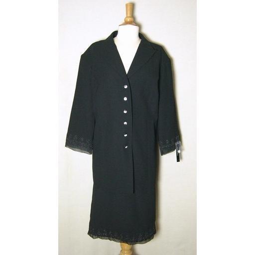 New Black Giorgio Sant'Angelo Skirt Suit- $250- 22W