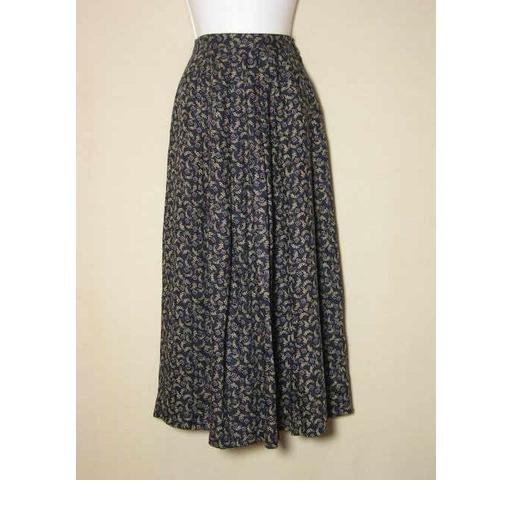 Lovely TALBOTS Navy Print Skirt - Size 4