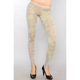 Alternative Apparel Hollywood Heather Burnout Leggings Small