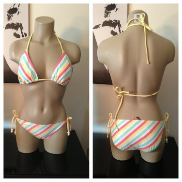 Chevron Glitter Bikini S/M