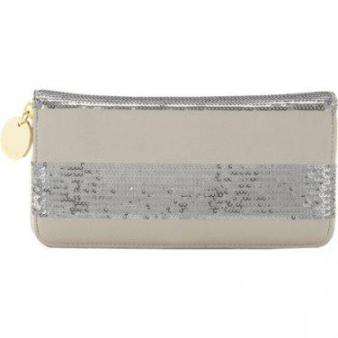 Deux Lux Grey Sequin Zip Around Wallet